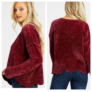ALTAR'D STATE Eversoft Chenille Scalloped Sweater